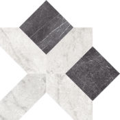 Pisa White & Black Cassettone 15x15