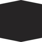 black elongated hex