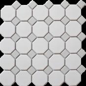 white & grey octagon