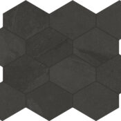 rail black hex mosaic