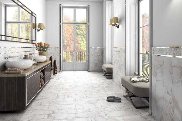 ashley scott - Bathroom Calacatta Oro Hex